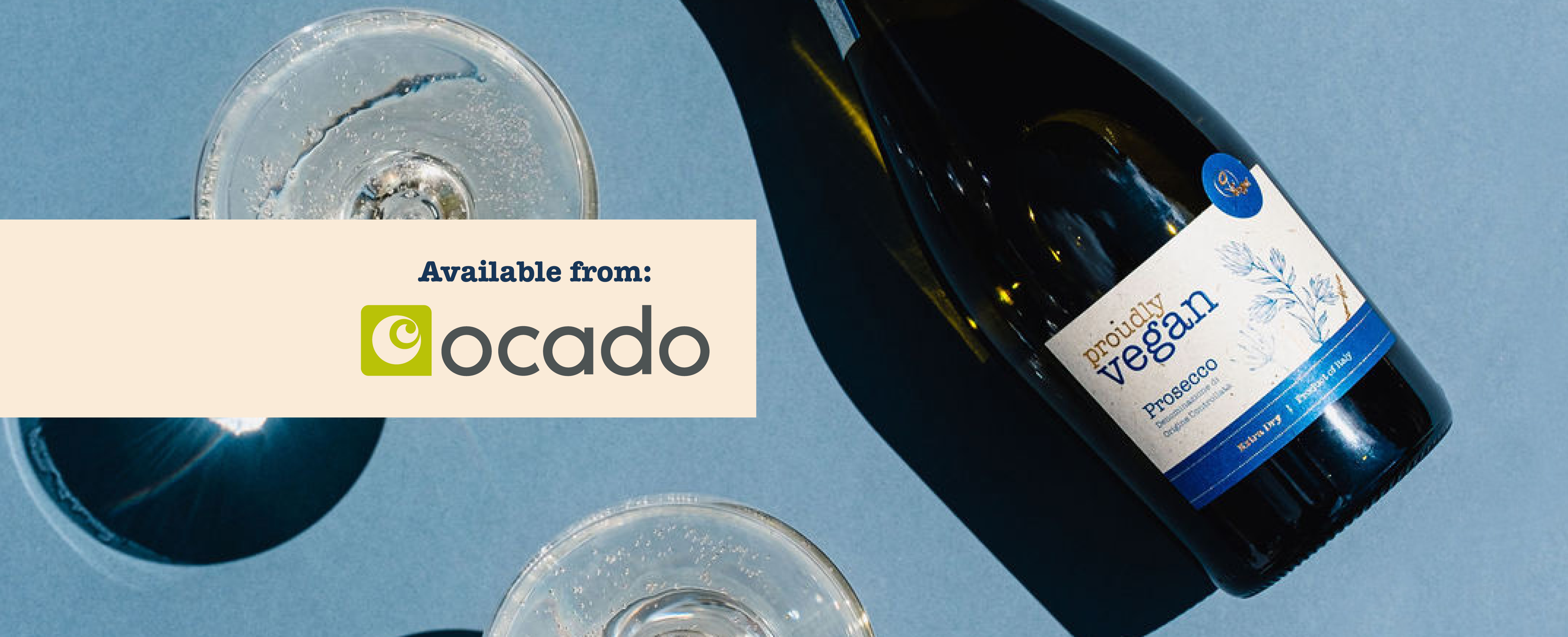 Proudly Vegan Prosecco available on Ocado