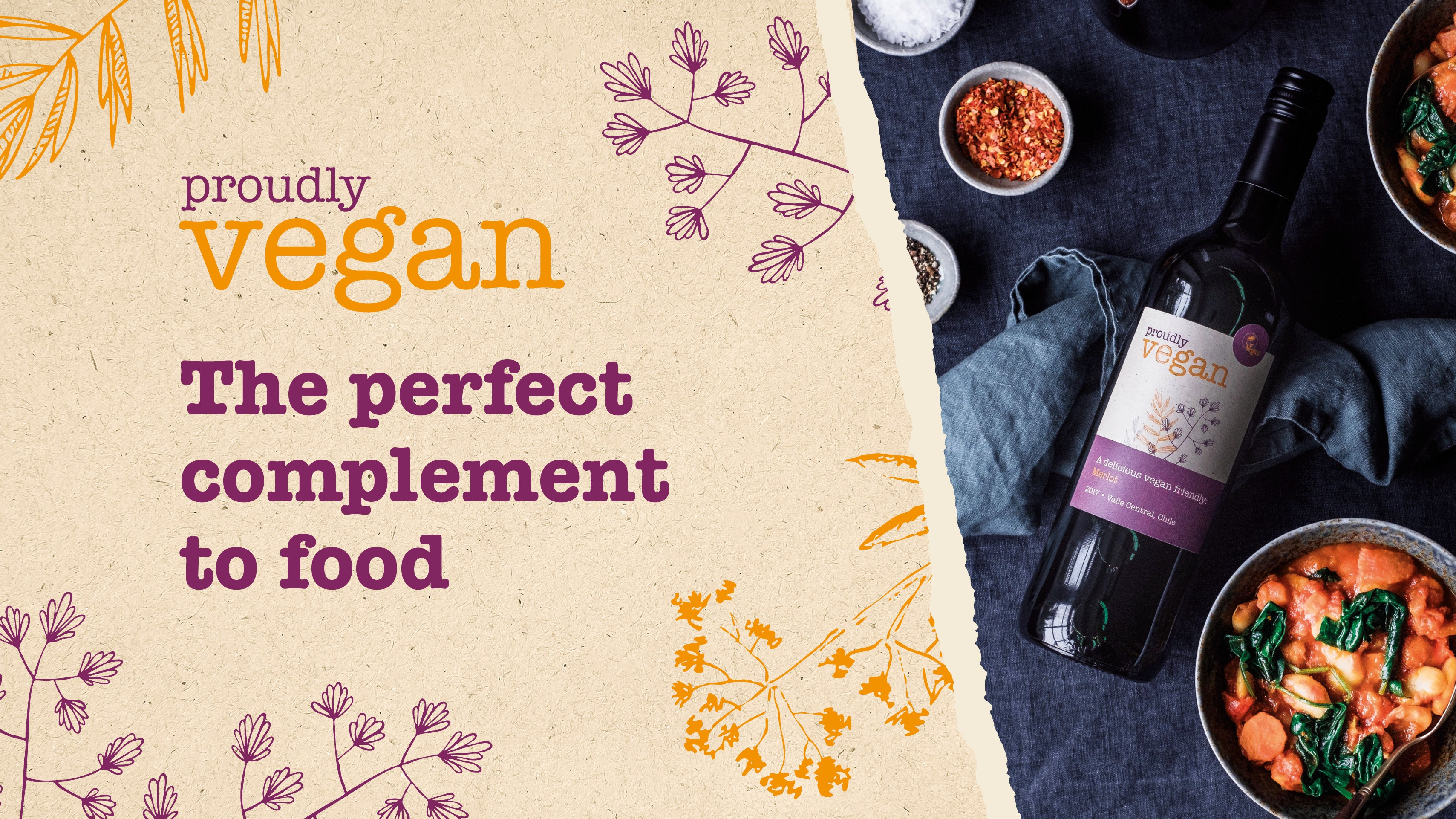 Complement your food with vegan wine